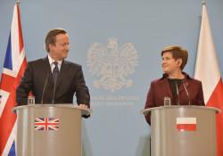 Cameron & Szydło - gutes Verständnis, nicht nur dank Kopfhörern